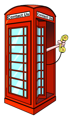 Contact Us (phone booth)