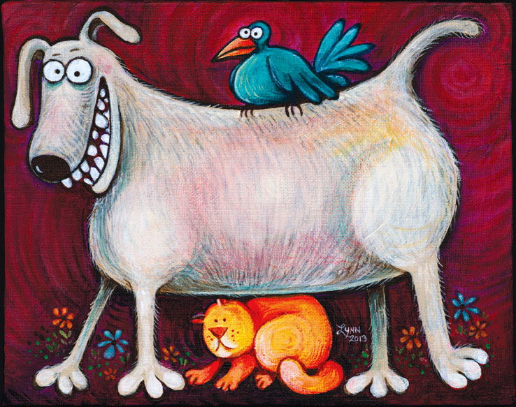 Funny painting on canvas by Lynn Johnston